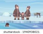 north pole background. eskimo... | Shutterstock .eps vector #1940938021