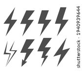 lightning electric icon. set of ...   Shutterstock .eps vector #1940939644
