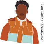black afro young man on the... | Shutterstock .eps vector #1940941054