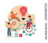 team communication and startup...   Shutterstock .eps vector #1940968714