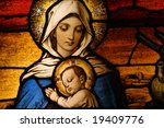 Stained Glass Depicting The...