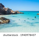 A Beautiful Turquoise Cove On...
