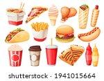fast food cartoon vector icon... | Shutterstock .eps vector #1941015664