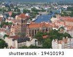 The city of Gdansk - stock photo
