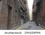 an image of back alley | Shutterstock . vector #194104994