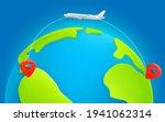 jetliner flight trajectory from ... | Shutterstock .eps vector #1941062314