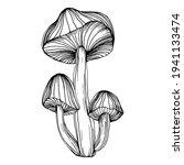 mushroom illustration sketch... | Shutterstock .eps vector #1941133474