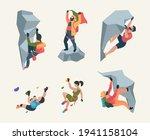 wall climbers. mountain rock... | Shutterstock .eps vector #1941158104