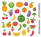 vector set of fruits  clipart... | Shutterstock .eps vector #1941166081