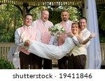 groomsman holding the bride | Shutterstock . vector #19411846