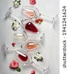 Easter Wine Glasses In Flatlay...