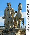 statue by michelangelo in the... | Shutterstock . vector #19412605