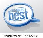 cheapest and best blue speech... | Shutterstock .eps vector #194127851