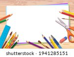 vector drawing table. the space ... | Shutterstock .eps vector #1941285151