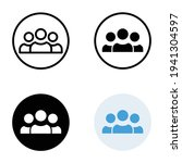 3 people icon in different... | Shutterstock .eps vector #1941304597