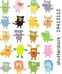 vector collection of animals 35 | Shutterstock .eps vector #19413112