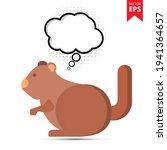 cute cartoon squirrel with...