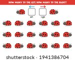 left or right with cute ladybug....   Shutterstock .eps vector #1941386704