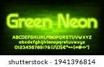 green neon alphabet font. neon... | Shutterstock .eps vector #1941396814