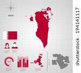 republic of bahrain. flag. asia.... | Shutterstock .eps vector #194141117