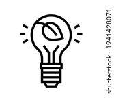 lightbulb energy saving line... | Shutterstock .eps vector #1941428071