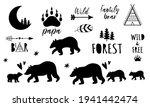 bear family set. forest papa ... | Shutterstock .eps vector #1941442474