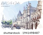 the royal courts of justice a... | Shutterstock .eps vector #1941498487