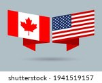 usa and canada flags. american... | Shutterstock .eps vector #1941519157
