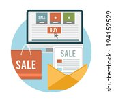 business online sale icons.... | Shutterstock .eps vector #194152529