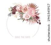 boho floral wedding vector... | Shutterstock .eps vector #1941545917