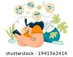 shopping online during covid 19 ...   Shutterstock .eps vector #1941562414