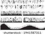 isolated  silhouette grass... | Shutterstock .eps vector #1941587311
