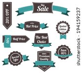 set of retro labels and banners.... | Shutterstock .eps vector #194159237