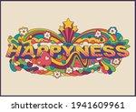 happiness psychedelic art... | Shutterstock .eps vector #1941609961