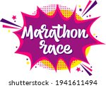 marathon race hand drawn vector ...   Shutterstock .eps vector #1941611494