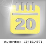 calendar icon   date number 20. ...