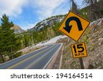 sharp curve road. colorado... | Shutterstock . vector #194164514