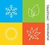 season symbols   Shutterstock .eps vector #194165981