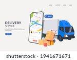 online order tracking or...   Shutterstock .eps vector #1941671671