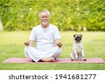 Calm of healthy asian elderly...