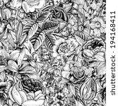 summer seamless floral pattern. ... | Shutterstock .eps vector #194168411