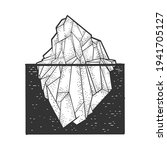 Iceberg Sketch Engraving Vector ...