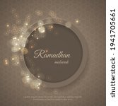 ramadan greeting card with... | Shutterstock .eps vector #1941705661