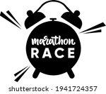 marathon race hand drawn vector ...   Shutterstock .eps vector #1941724357