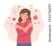 love yourself concept  woman...   Shutterstock . vector #1941736297
