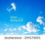 vector sky. sky with clouds. | Shutterstock .eps vector #194174051