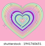 Tunnel Of Concentric Hearts In...