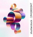 colorful 3d rings on light... | Shutterstock .eps vector #1941803347