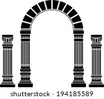 fantasy arch and columns.... | Shutterstock . vector #194185589