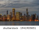 Chicago Cityscape River Side...